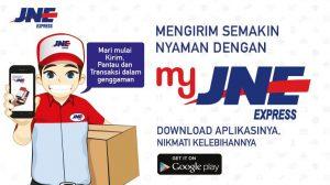 Aplikasi My JNE yang memudahkan dan Ksatria JNE, Joni yang full senyum :)