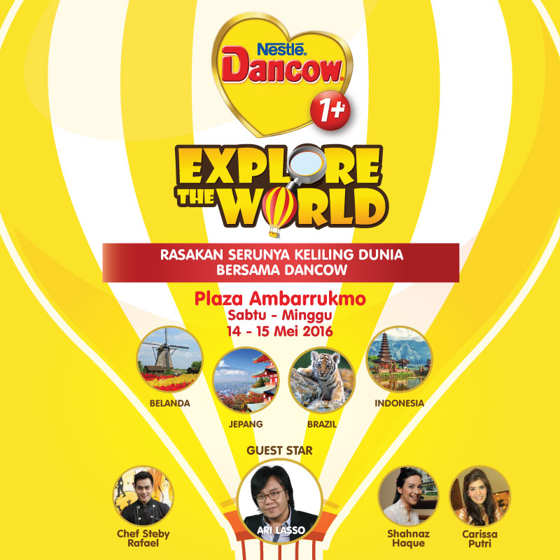 Acara Dancow Explore The World yang edukatif