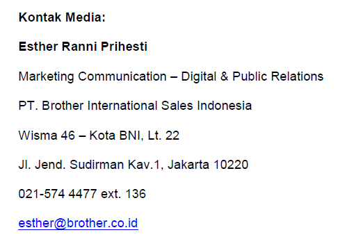 Brother contact