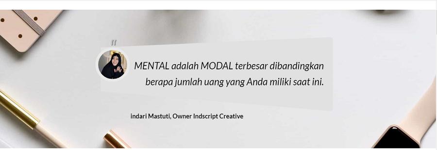 Kisah Inspiratif Dibalik Nama Besar Seorang Owner Indscript Creative