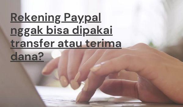 Rekening Paypal dibatasi